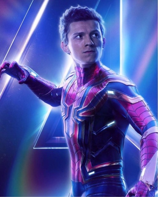 Tom Holland as Spider-Man in Infinity War