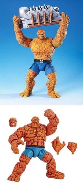 Figures from ToyBiz and Hasbro