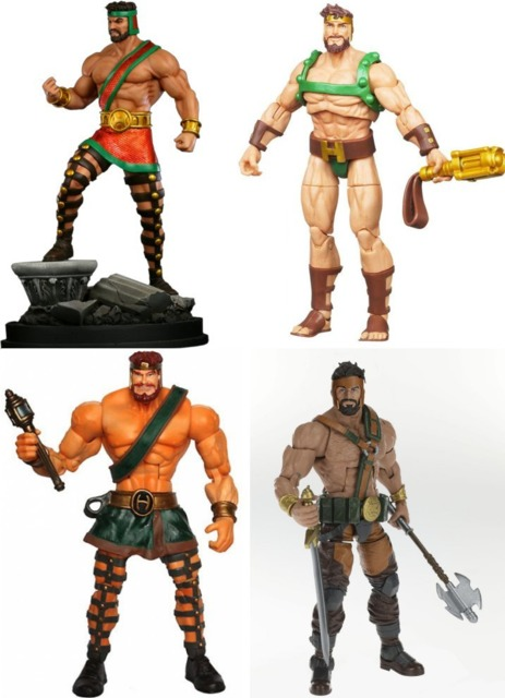 A statue from Bowen Designs and three figures from Hasbro