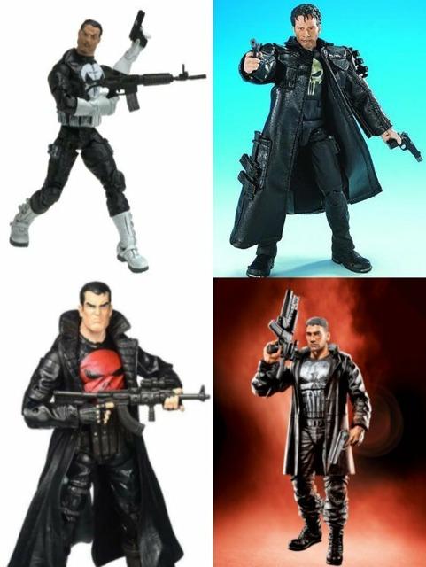 Marvel Legends figures from Toybiz (top) and Hasbro (below)