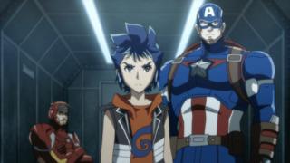 Cap in the Future Avengers anime