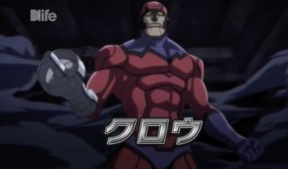 Klaw in the Future Avengers anime