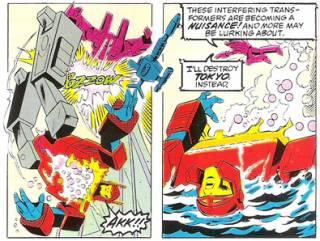 Starscream kills Blaster