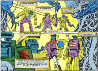 Shockwave creating the Constructicons