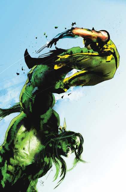 Wolverine vs. a feral Hulk in the fateful last stand on the George Washington Bridge