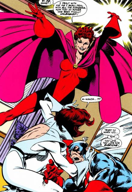 Walker tries to warn Wasp of the Scarlet Witch