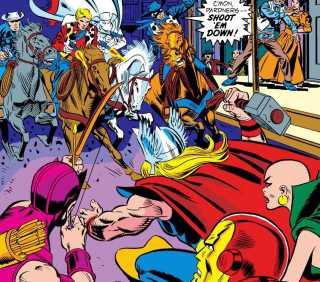 Two-Gun Kid encounters the Avengers