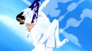 Akoiji freezing Luffy