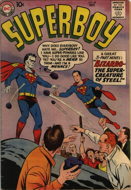 Superboy #68 (October 1958), Bizarro's first appearance.