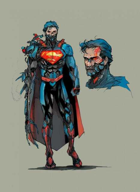 Look at Cyborg Superman's redesign compared to Victor. He looks relatively human, sleek, and aesthetically like a superhero. His design fits into the impossible physical physique that male superheroes normally process while also remaining a somewhat handsome male despite having an augmented jaw and disfigured arm.