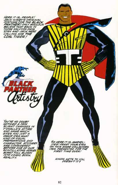 Jack Kirby's unused design of T'Challa, the