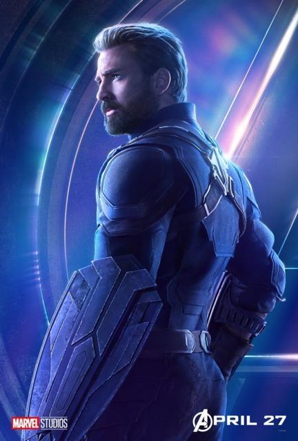 Chris Evans as Captain Steve Rogers in Avengers: Infinity War