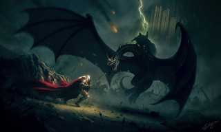 The Witch-King fighting Éowyn