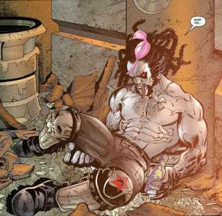Lobo as he appears in Stormwatch. Showing his pre New 52 appearance.