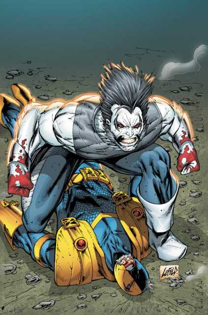 Lobo as he is shown in New 52 Deathstroke.