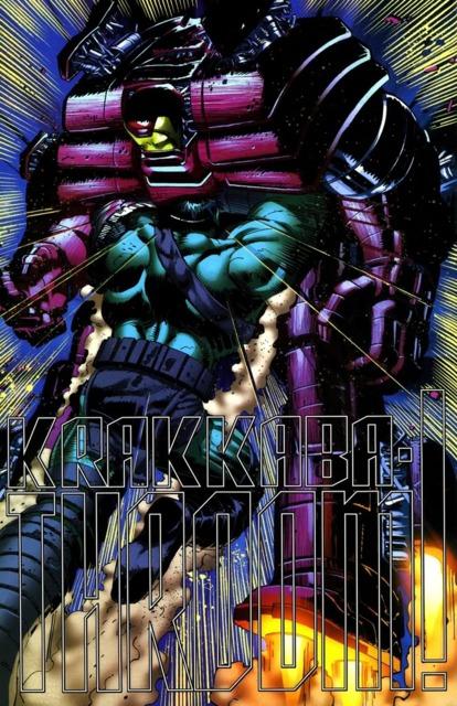 Hulk vs. Iron Man in the HulkBuster Armor.