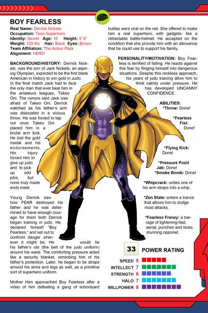 A page from The Powerverse Presents THE 101, issue #1