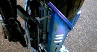 RoboCop's leg holster.