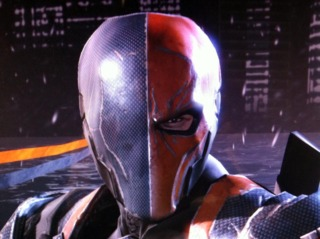 Deathstroke's Arkham Origins mask