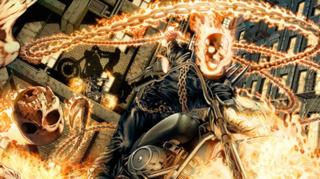 Ghost Rider in Fear Itself - Blaze (front), Alejandra (back)