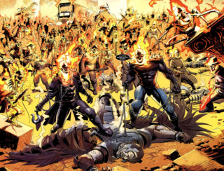 Danny and Johnny with an army of Ghost Riders