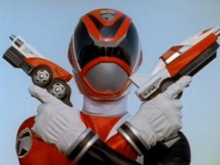 Jack as the B-Squad Red SPD Ranger