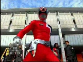 Sky as the B-Squad Red SPD Ranger