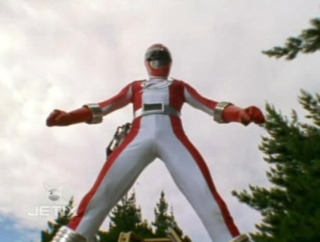 Mack as the Red Operation Overdrive Ranger