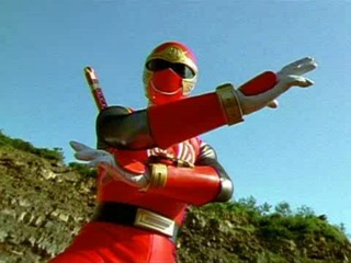 Shane as the Red Ninja Storm Ranger