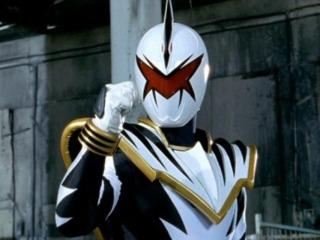 Trent as the White Dino Thunder Ranger