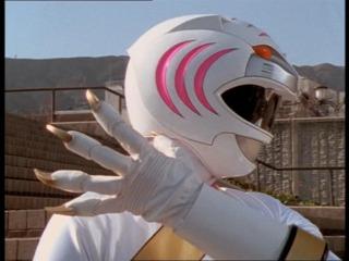 Alyssa as the White Wild Force Ranger