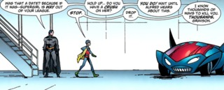 Dick thinks Damian has feelings for Supergirl.