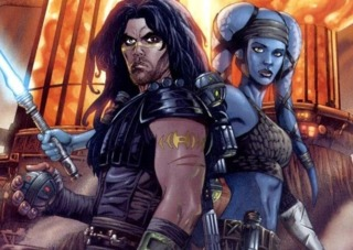 Aayla with her Master, Quinlan Vos.