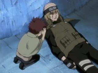 Gaara with a dying Yashamaru.