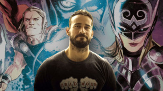 CM Punk working on the Thor annual, picture released with the announcement.