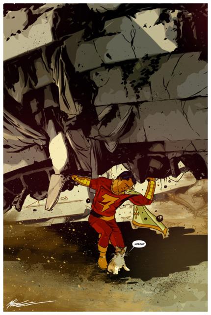 Superhuman Strength of Captain Marvel