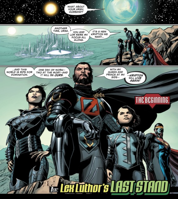 Zod with his wife, son and the Eradicator II