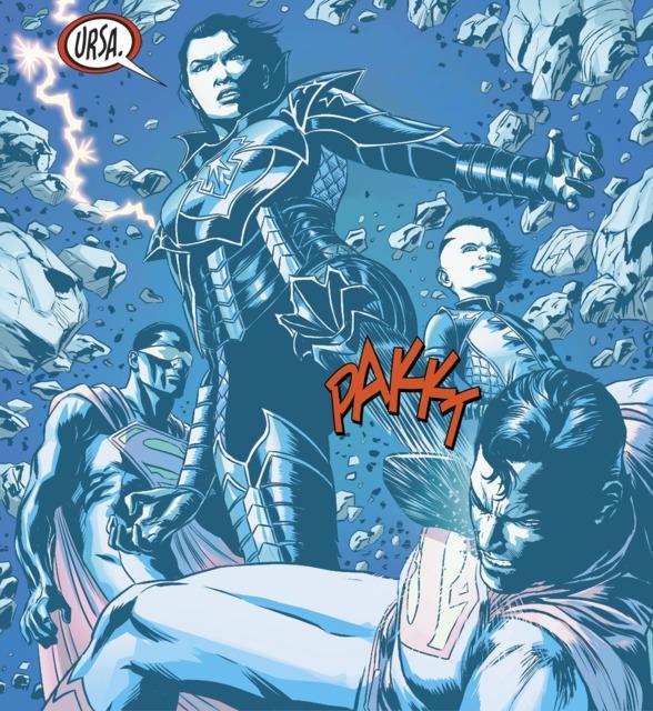Eradicator II, Ursa, Lor-Zod, and Superman in the Phantom Zone