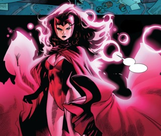 Scarlet Witch takes part in AvX.
