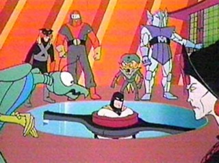 Space Ghost captured by The Council of Doom