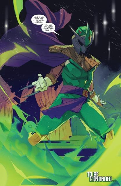 Shredder as The Green Power Ranger