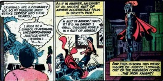 Bruce Wayne as The Iron Knight