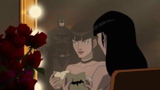 Batman attends one of Zatanna's show.