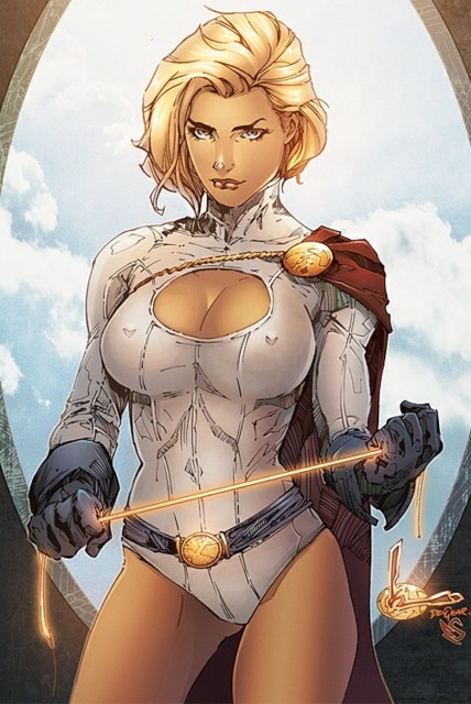 An awesome fan art of Powergirl