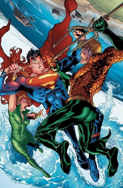 Queen Mera and Aquaman fighting Superman