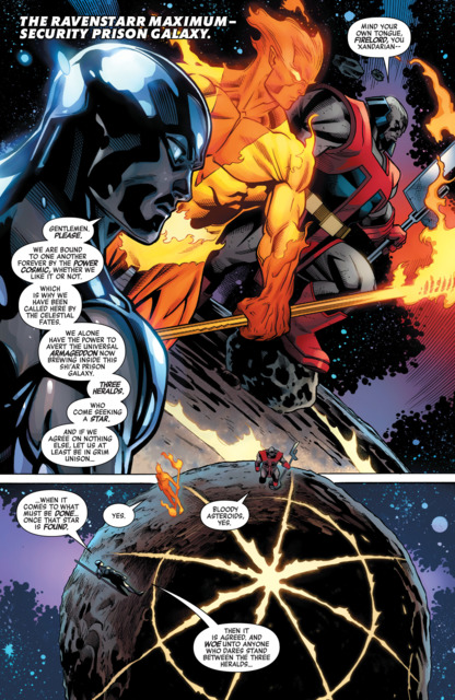 Silver Surfer with Firelord and Terrax.