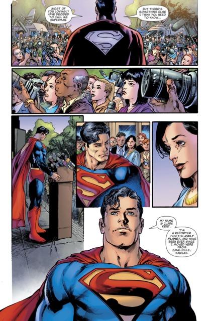 Superman revealing his Identity.