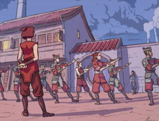 Suki training the guards to chi-block
