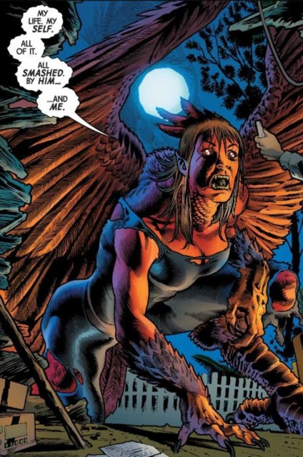 Betty as the Red Harpy