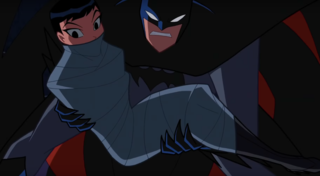 Batman rescuing Zatanna in Justice League Action